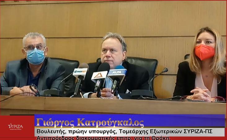 Γ. Κατρούγκαλος: Να γίνει Θράκη ένας τόπος που να χαίρεσαι να ζεις. Στρατηγική αυτονομία στην άμυνά της Ευρώπης.